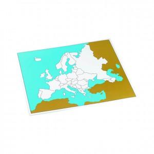 Tabla de control de Europa sin etiquetas, GM2262000, material montessori, geografía material escolar infantil.