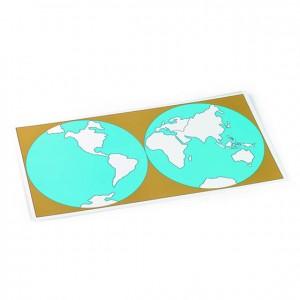 Tabla de control sin etiquetas, GM2211000, material montessori, geografía, material escolar infantil.