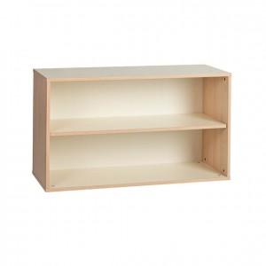Estantería baja de madera con 2 estantes GA0251002