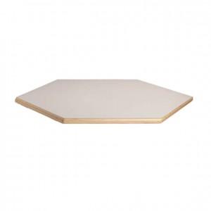 Tablero de mesa hexagonal de madera con bordes redondeados para niños GA0242210