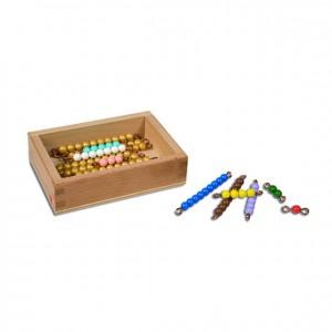 Perlas para tablas de seguín 11-19, GM1050000, material montessori, matemáticas, material escolar infantil.