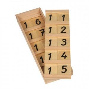 Tablas de seguín 11-19, GM1040000, material montessori, matemáticas, material escolar infantil.
