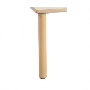 Pata cilíndrica de madera para mesa GA0240401