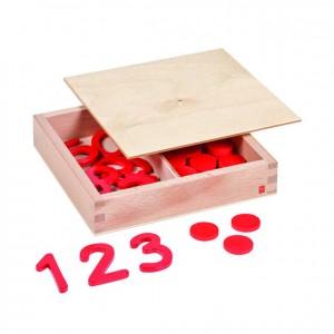 Números y fichas, GM0860000, material montessori, matemáticas, material escolar infantil.