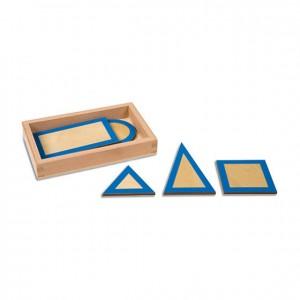 Figuras geométricas planas, GM0303N00, material montessori, material sensorial, material escolar infantil.