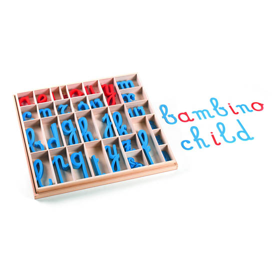 Alfabeto móvil: cursivo con caja GM0541000