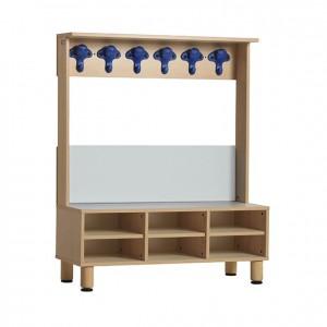 mueble vestidor con casillas y colgadores infantil GA0233400