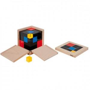 Cubo de trinomio, GM0430000, material montessori, matemáticas, material escolar infantil.