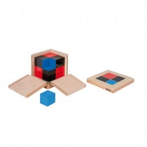 Cubo de binomio, GM0420000, material montessori, matemáticas, material escolar infantil.