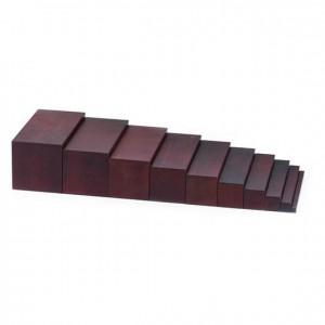 Escalera marrón, GM0240000, material montessori, material sensorial, material escolar infantil.