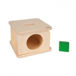 Caja de permanencia con prisma rectangular verde, GM258N000