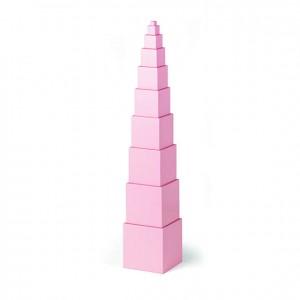 Torre rosa, GM0220000, material montessori, material sensorial, material escolar infantil, ludoteca, escuela infantil,