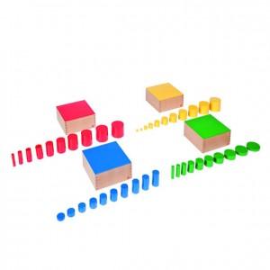 Cilindros de colores, GM0210000, material montessori, material sensorial, material escolar infantil.