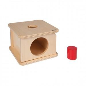 Caja de permanencia con cilindro, GM255N000, material montessori, material 0-3 años, material escolar infantil.