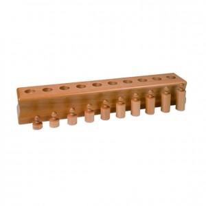 bloque de cilindros, GM0204000, material montessori, material sensorial, material escolar infantil.
