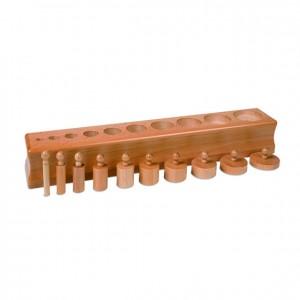Bloque de cilindros, GM0203000, material montessori, material sensorial, material escolar infantil.