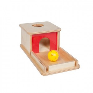 Caja de permanencia con bandeja y bola, GM250N000, material montessori, material 0-3 años, material escolar infantil.