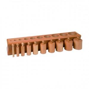 Bloque de cilindros, GM0202000, material montessori, material sensorial, material escolar infantil.