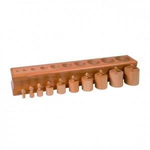 Bloque de cilindros, GM0201000, material montessori, material sensorial, material escolar infantil.
