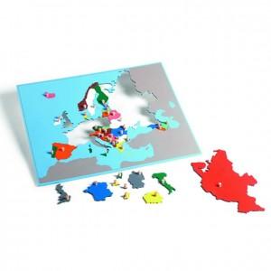 Puzzle mapa de Europa, GM226B000, material montessori, geografía, material escolar infantil.
