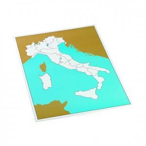 Tabla de control de Italia sin etiquetas, GM223IT10, material montessori, geografía, material escolar infantil.