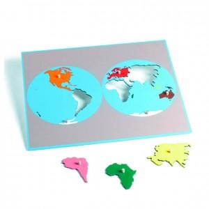 Puzzle mapa del mundo, GM221B000, material montessori, geografía, material escolar infantil.