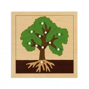 Puzzle árbol, GM214AN00, material montessori, botánica, material escolar infantil.