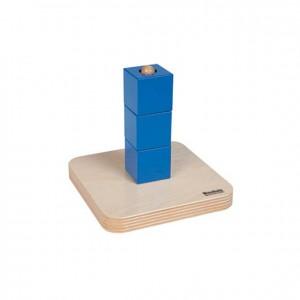 Cubos azules en guía vertical, GM2831000, material montessori, juego niños, material escolar infantil.