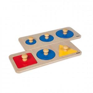 Puzzle de madera, círculos y primeras formas, GM2711N00, material montessori, juegos, material escolar infantil.