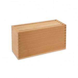 Caja para tarjetas de tierra y agua, GM2371N00, material montessori, botánica, material escolar infantil.
