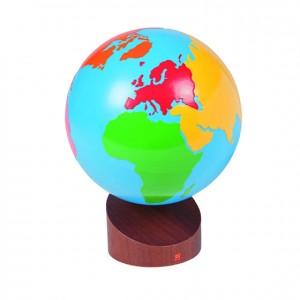 Globo del mundo, GM2203B00, material montessori, geografía, material escolar infantil.
