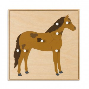 Puzzle caballo, GM2161N00, material montessori, biología, material escolar infantil.