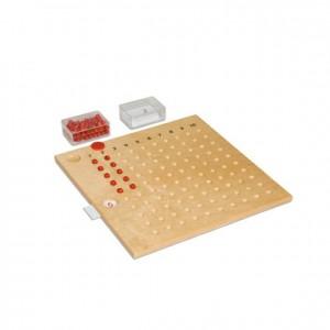 Tablero de la multiplicación, GM123N000, material montessori, matemáticas, material escolar infantil.