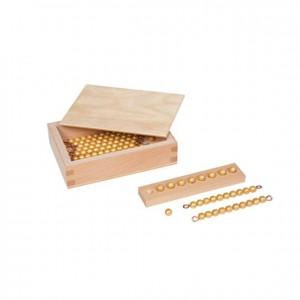 Perlas para tablas de seguín, GM1070000, material montessori, matemáticas, material escolar infantil.
